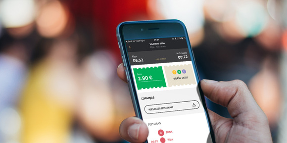 Latvian public trains app for iOS and Android