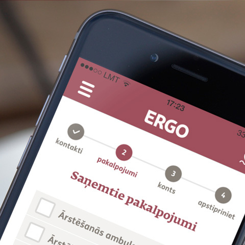 ERGO health insurance claims app for iOS and Android